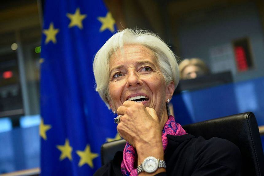 Christine Lagarde speaks at the EU Parliament in Brussels on Sept 4, 2019.