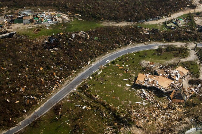 Damage from Hurricane Dorian in the Abacoa Islands of the Bahamas, on Sept 4, 2019.