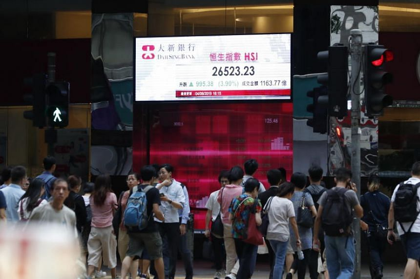 Trading in September Hang Seng Index futures totalled 60,070 contracts before the suspension, down 80 per cent from the previous day.