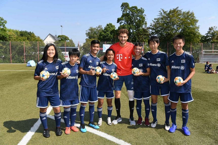 Fifty teens, including two from Singapore, were selected to attend the Allianz Explorer Camp | Football Edition held in Munich. PHOTO: ALLIANZ GLOBAL INVESTORS
