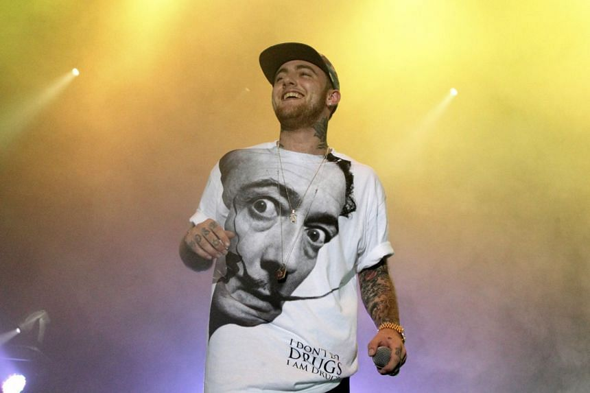 A 2013 photo shows rapper Mac Miller performing in Philadelphia.