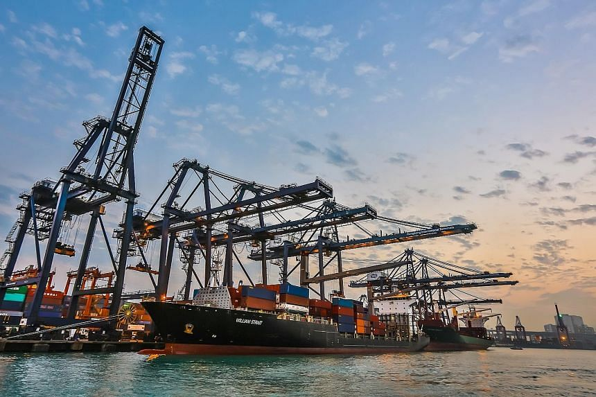 Hutchison Port Trust Holdings' container terminal in Hong Kong. Its removal from the Straits Times Index marks the end of an era for the Li Ka Shing-backed container port trust, whose initial public offering in 2011 was among the biggest that year.