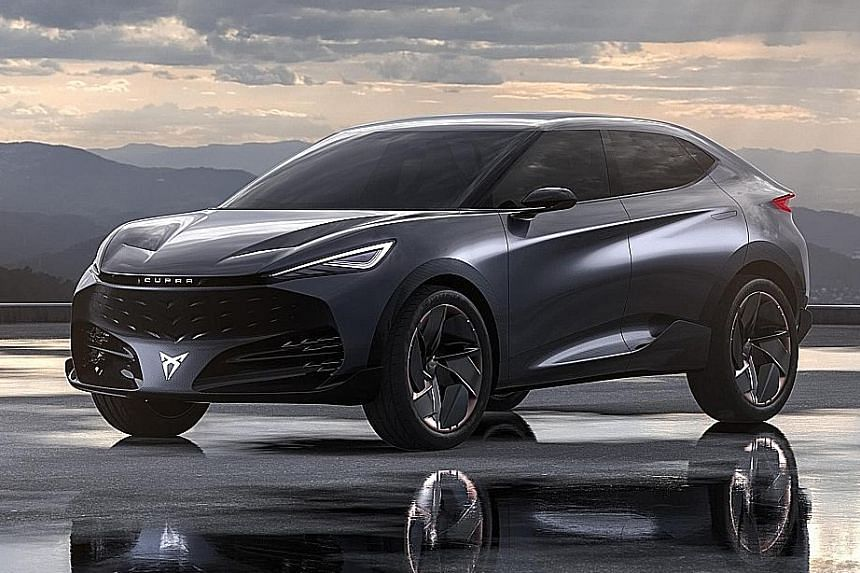 Cupra, the premium brand within Seat, has unveiled a large sport utility vehicle coupe concept (above).
