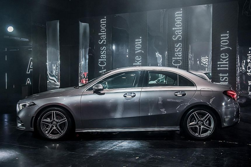 The Mercedes-Benz A-class Saloon (above) was launched here last week.