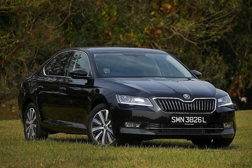 The Skoda Superb 1.8, with a wheelbase of 2,841mm and a front-wheel-drive configuration, is roomy and comfortable.