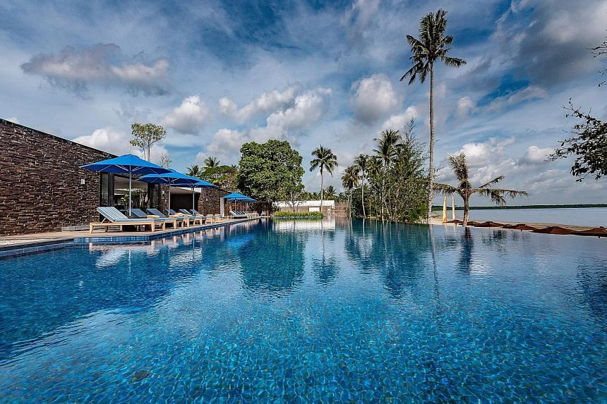 A view of the pool at The Residence Bintan, where subscribers of The Straits Times can stand to win a four-day, three-night stay. The prize package is worth $5,500 and includes accommodation at the premium two-bedroom beachfront villa.