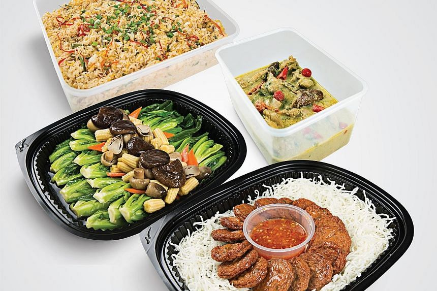 Deli Hub's halal-certified Thai-rrific Mini Office Party Set is ideal for a group of up to 10 people. PHOTO: DELI HUB CATERING