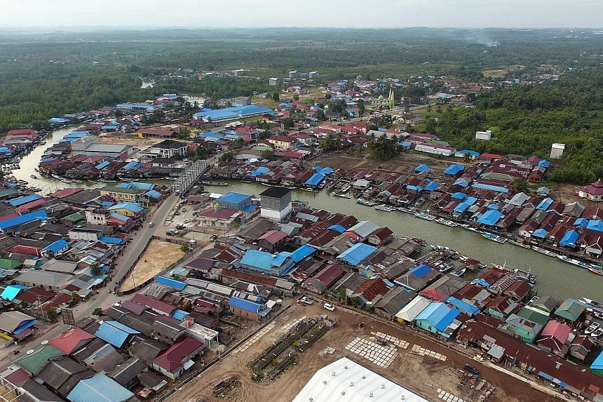 A general view of Samboja, Kutai Kartanegara, a location proposed for the new Indonesian capital city in East Kalimantan. Indonesian President Joko Widodo announced in August that East Kalimantan in Borneo will be the site for the country's new capit