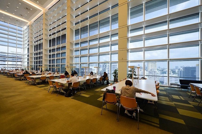 The Central Library building was designed with green features such as sunshades to keep the building cool. These cost more initially, but have since paid off by making the building more energy-efficient.