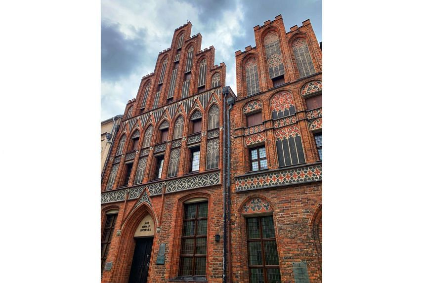In Torun, the home of mathematician-astronomer Nicolaus Copernicus is now a museum (above).