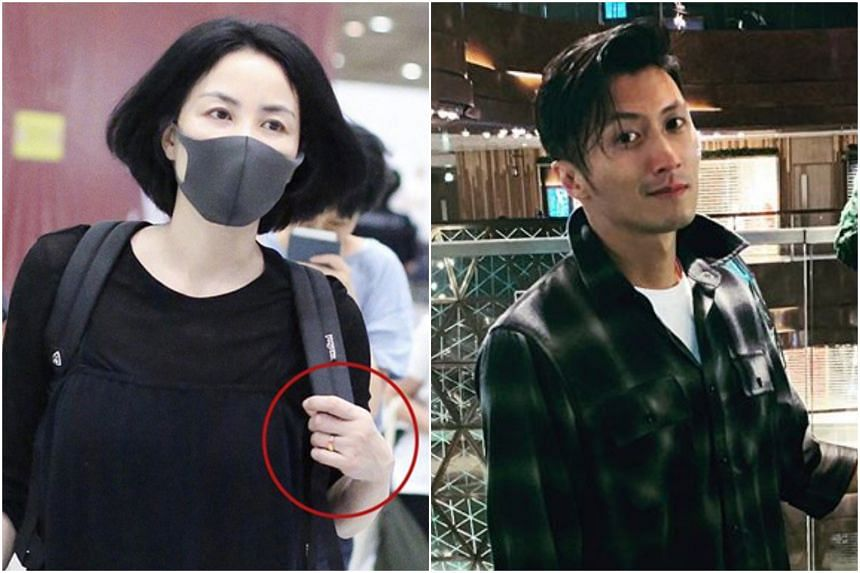 Faye Wong was spotted at the Beijing airport wearing a ring on her ring finger on Sept 5, sparking speculations of marriage to Nicholas Tse.
