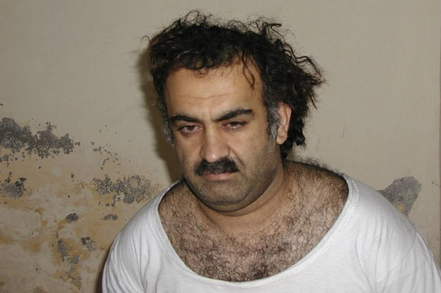 This photo taken on March 1, 2003, shows Khalid Sheikh Mohammad shortly after his capture during a raid in Pakistan. He has been in US custody since 2003 and was transferred to Guantanamo Bay prison in 2006.