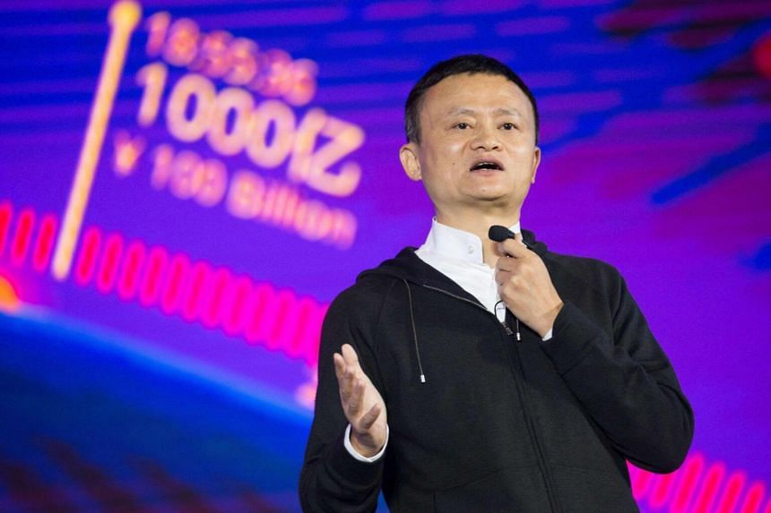 This photo taken on Nov 11, 2016 shows Alibaba chairman Jack Ma speaking in the southern Chinese city of Shenzhen. He will stay on the board until his current term expires in 2020.