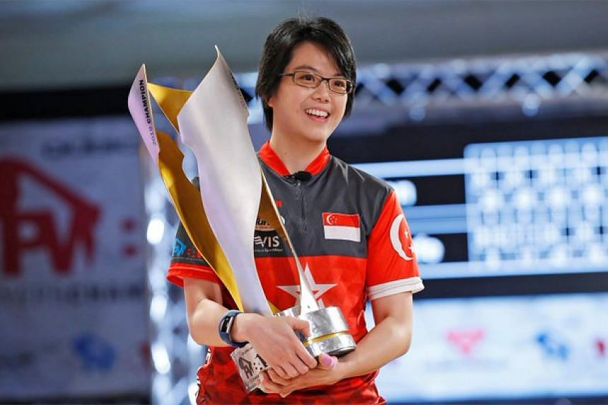 Singapore bowler Cherie Tan won the QubicaAMF Professional Women's Bowling Association (PWBA) Players Championship in Raleigh, North Carolina on Sept 8, 2019.