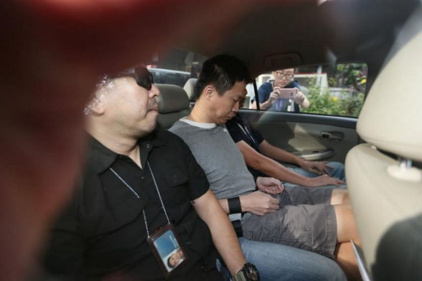 Allen Vincent Hui Kim Seng (centre) took a series of calculated steps to engage a hitman-for-hire to orchestrate the murder of Mr Tan Han Shen.