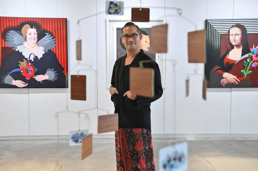 Director Ed Sylvanus Iskandar (left) at Miaja Gallery, where the Singapore Repertory Theatre's upcoming production, Caught, will be staged.