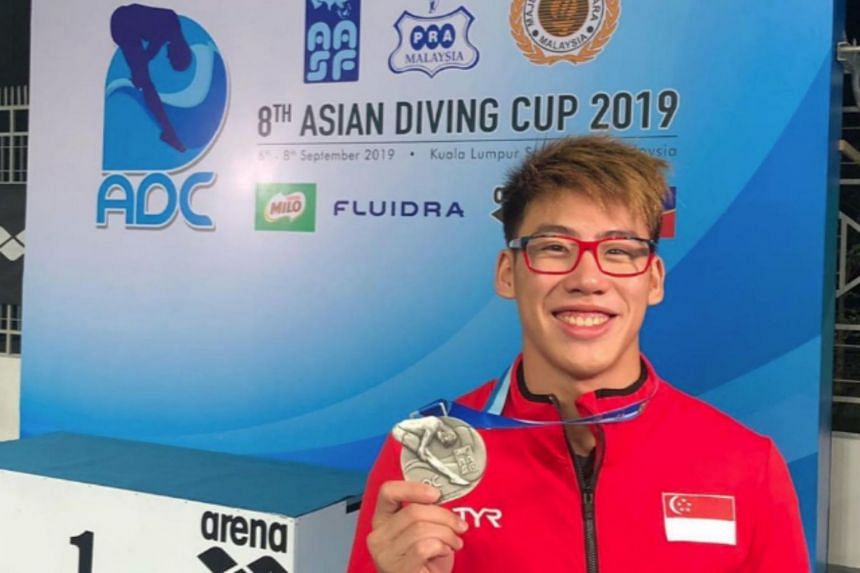 A second-year student at the Singapore University of Technology and Design, national diver Jonathan Chan had initially set his sights on qualifying for the Olympics at next April's Fina Diving World Cup.
