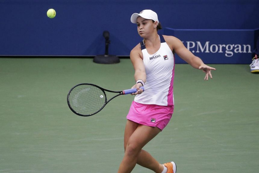 Australia's Ashleigh Barty returns a shot during the semifinals of the US Open tennis championships on Sept 5, 2019.