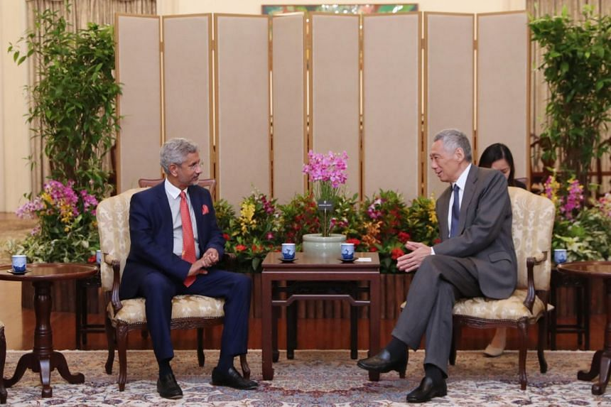 Indian External Affairs Minister Subrahmanyam Jaishankar calls on Prime Minister Lee Hsien Loong on Sept 9, 2019.
