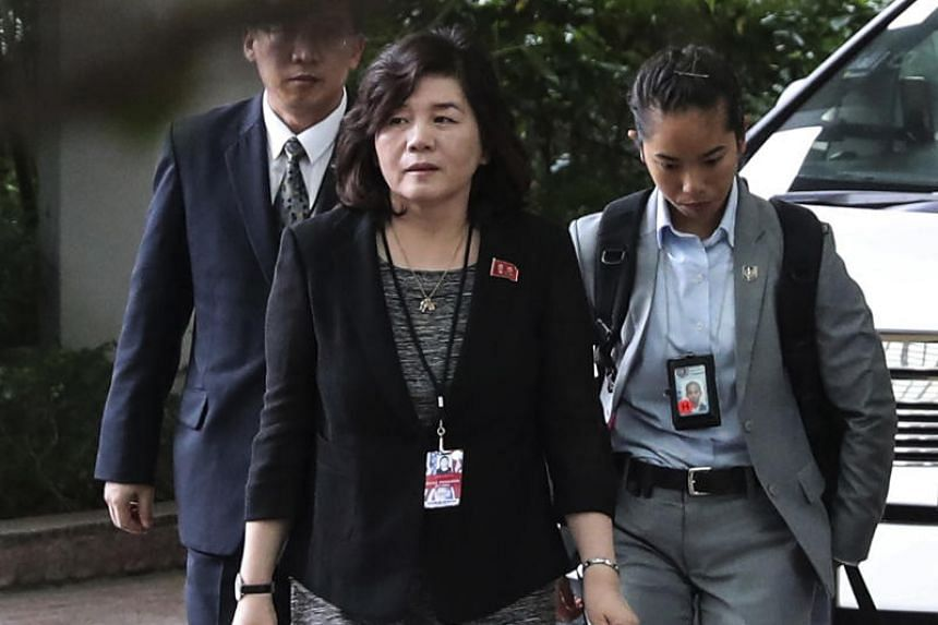 North Korea's Vice Foreign Minister Choe Son Hui said the meeting could be held at a time and place agreed between both sides.