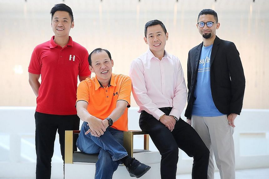 (From left) Haulio co-founder and chief executive Alvin Ea, Supply Chain Asia founder and president Paul Lim, Jabil vice-president of global supply chain management Ng Kee Wee, and VersaFleet chief executive Shamir Rahim. Technology has played a key