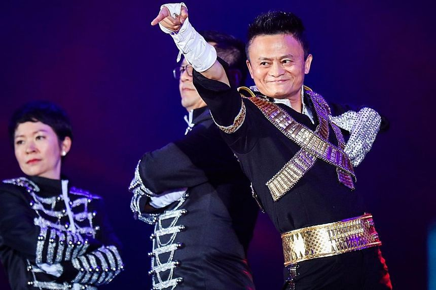 Mr Jack Ma is known for stunts like a Michael Jackson-inspired dance at an Alibaba anniversary celebration two years ago.