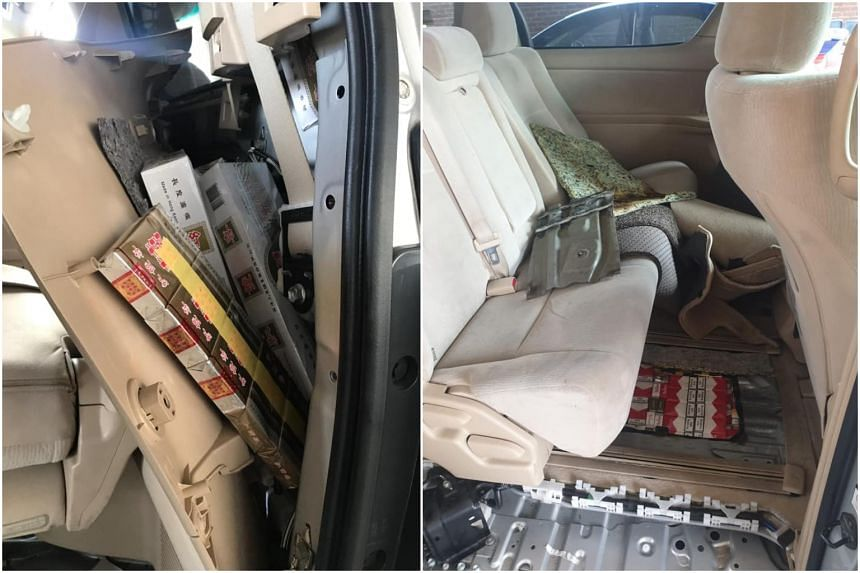 A total of 412 cartons and 640 packets of contraband cigarettes were concealed within the compartment of the car driven by the 27-year-old man.