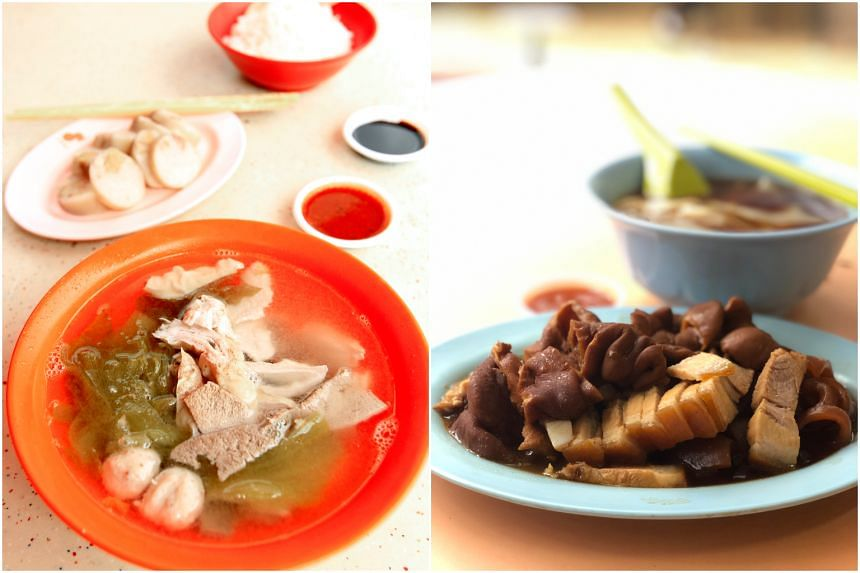 New hawker stalls on the list include Koh Brother Pig's Organ Soup at Tiong Bahru Market (left) and To-Ricos Guo Shi at Old Airport Road Food Centre.