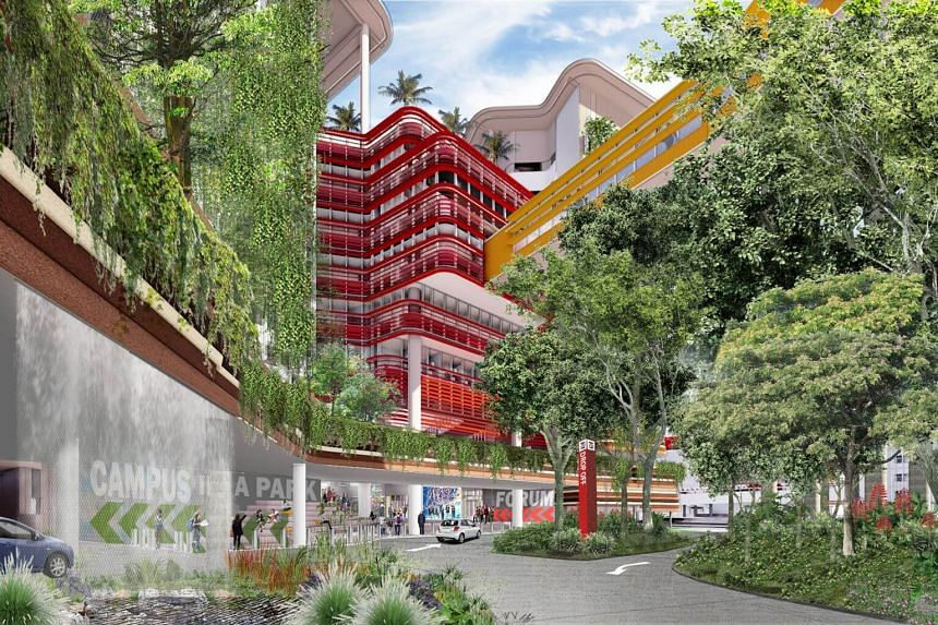 An artist's impression of Singapore Institute of Technology's new campus in Punggol Coast Road.