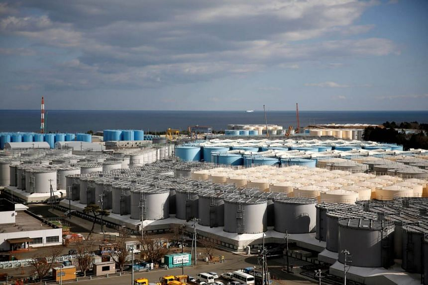 18 2019 storage tanks for radioactive water are seen at Tokyo Electric Power Co's tsunami-crippled Fukushima Daiichi nuclear power plant in Okuma town Fukushima prefecture