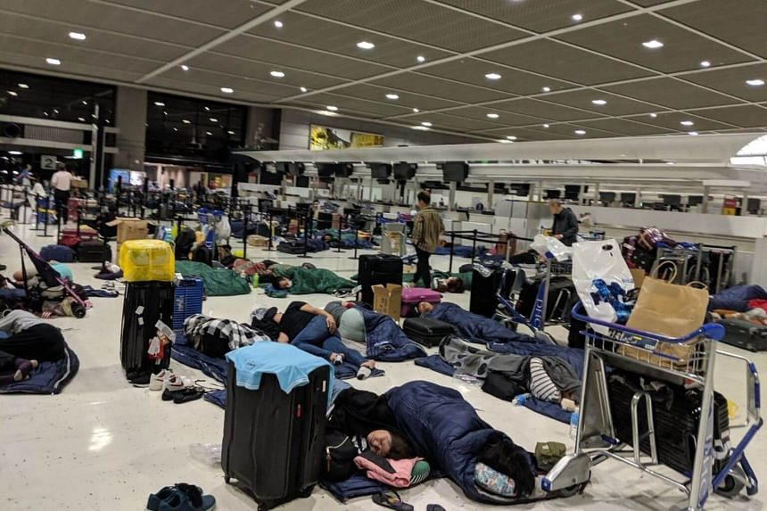 The airport said it delivered 2,000 bottles of water, 19,000 bags of crackers and 18,000 bed rolls to stranded passengers.