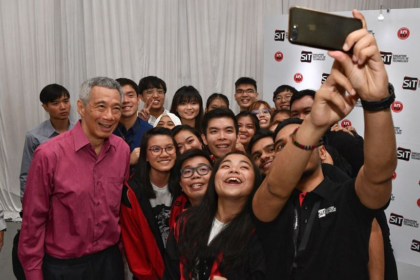 PM Lee Hsien Loong mingling with the crowd at the ground-breaking ceremony, on Sept 10, 2019.