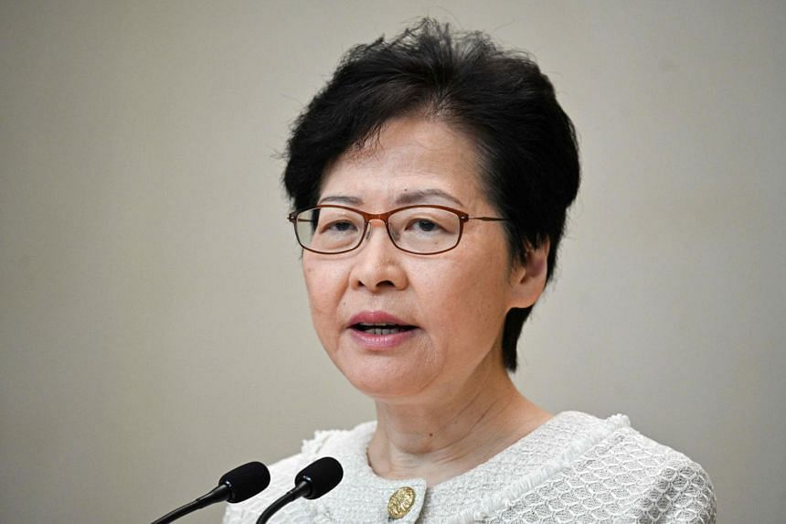 Hong Kong Chief Executive Carrie Lam speaks during a press conference in Hong Kong on Sept 10, 2019.