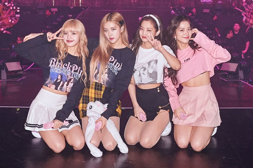 Blackpink (comprising, from left, Lisa, Rose, Jennie and Jisoo) at a performance in Singapore in February.
