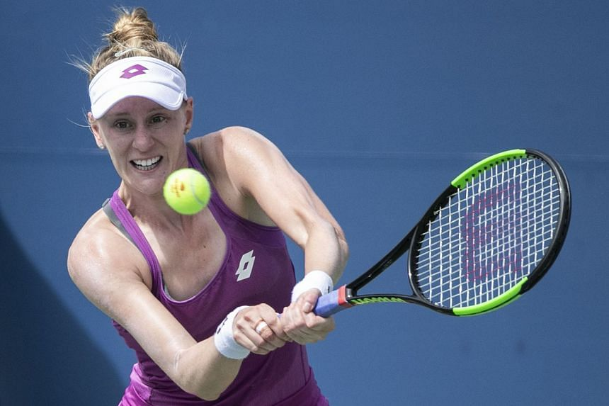 Alison Riske in action during the 2019 US Open.