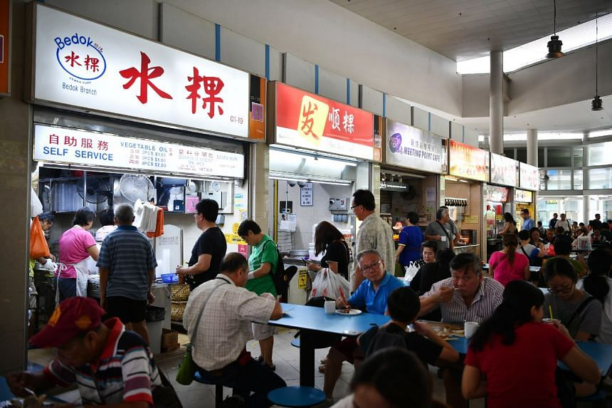 The queue at Bedok Chwee Kueh stall at Bedok Interchange Hawker Centre on Sept 10, 2019.