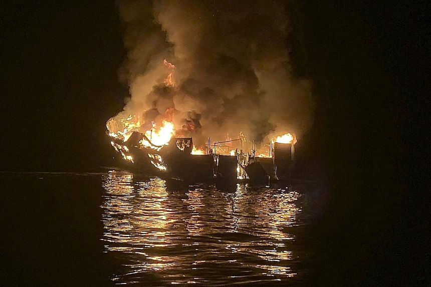 Two Singaporeans were among the 34 victims of the fire. The boat's operators have filed a pre-emptive lawsuit to protect their firm from having to pay massive damages.