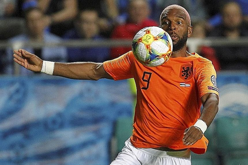 Ryan Babel, 32, used his experience to score his first brace for the Netherlands in the 4-0 win over Estonia on Monday.