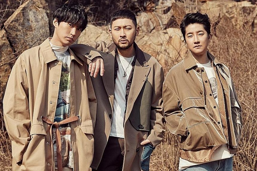 (From left) Tablo, with fellow Epik High members Mithra Jin and DJ Tukutz, will perform here on Saturday.