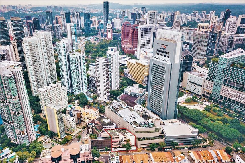 The freehold hotel site (outlined in red) is located near Orchard Road and is expected to benefit from the area's development. PHOTO: CUSHMAN & WAKEFIELD