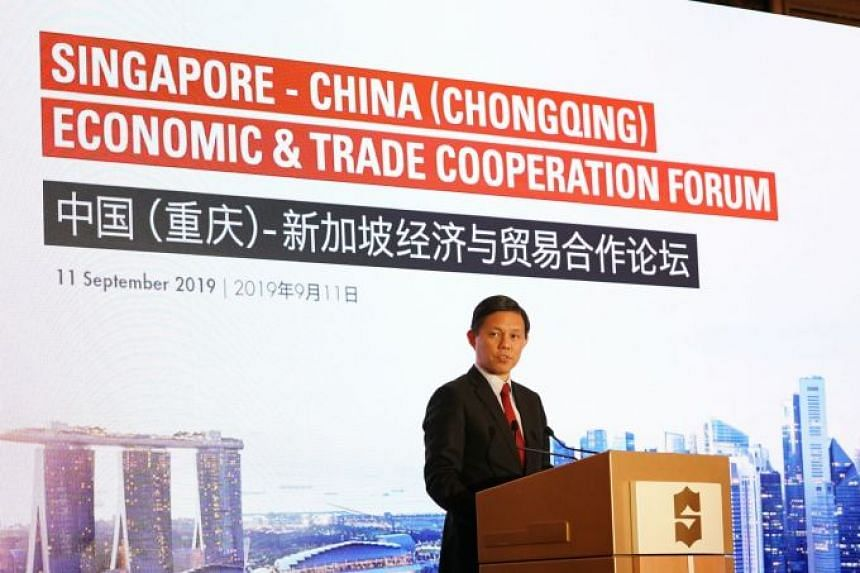 The new international data channel, billed as China's first point-to-point international data channel with another country. It was announced at the Singapore-China (Chongqing) Economic and Trade Cooperation Forum attended by Minister for Trade and