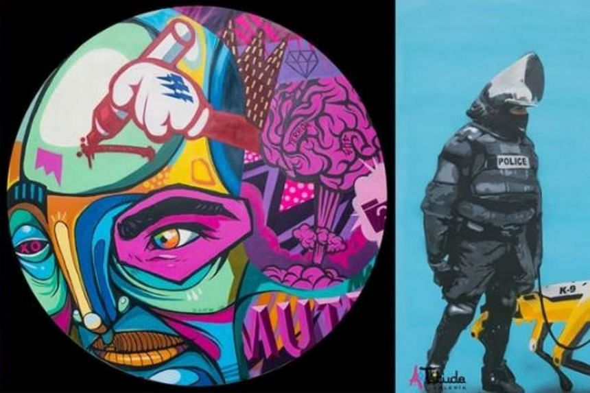 Street artists from South-east Asia and South America add a splash of colour and grit to The Fullerton Hotel Singapore in this exhibition by ARTitude Galeria.