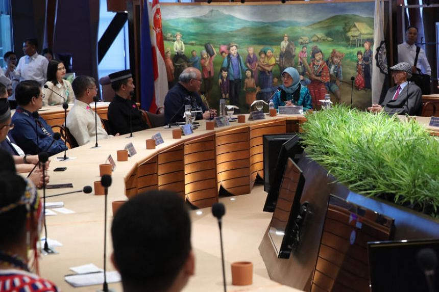 President Halimah Yacob (second from right) speaking at a dialogue at Ateneo De Davao University in Mindanao, the Philippines, on Sept 11, 2019.