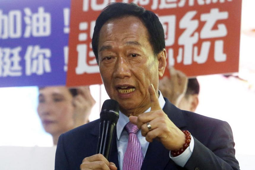 Mr Terry Gou, who lost a bid to be the Nationalist Party candidate in July, held talks with Mr Wang Jin-pyng, a Nationalist lawmaker and former long-time leader of the legislature.
