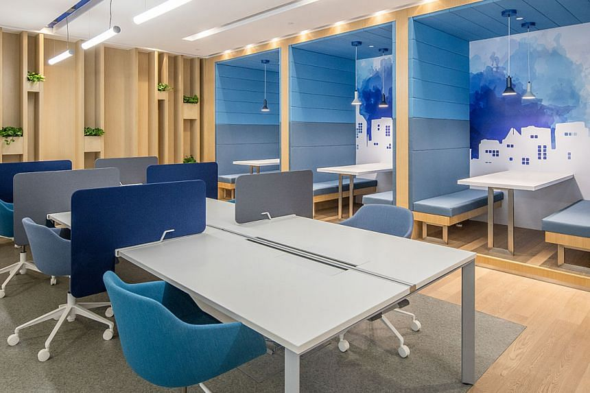 A less traditional corporate office setting tend to be more favoured by specific talent pools. PHOTO: REGUS