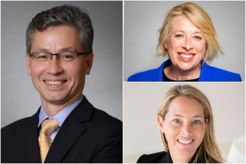 PropertyGuru Group has appointed (clockwise from left) Olivier Lim as independent chairman as well as Jenny Macdonald and Melanie Wilson as independent non-executive directors to its board.