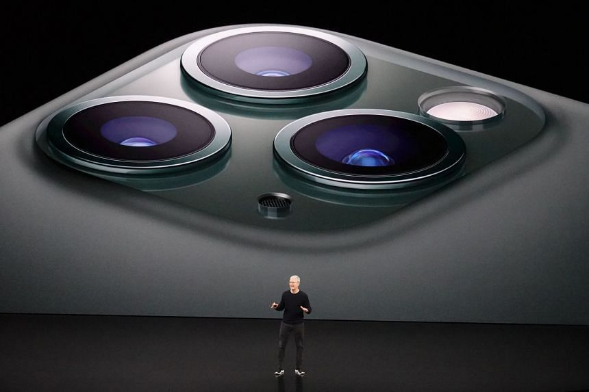 Apple CEO Tim Cook talking about the upcoming iPhone 11 Pro and Pro Max during a media event at the Steve Jobs Theatre on the Apple Park Campus, Cupertino.
