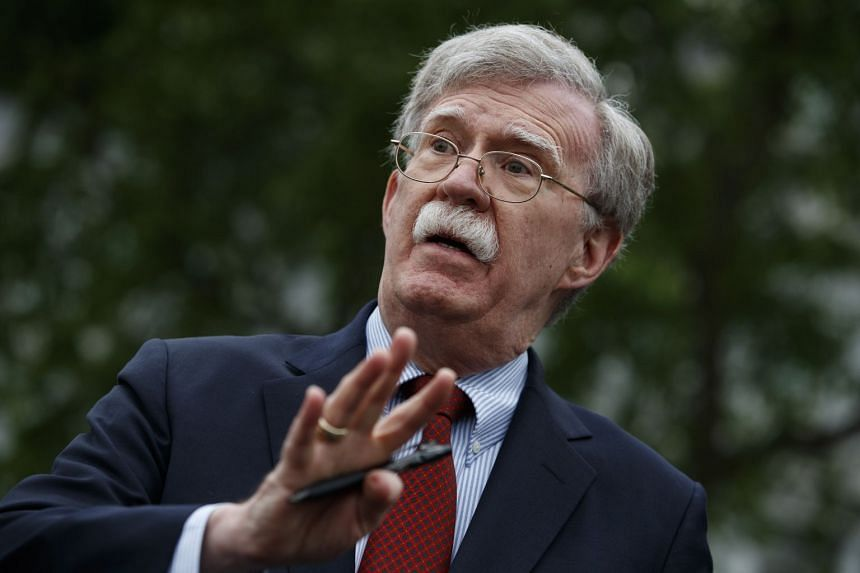 John Bolton (above) resigned at the request of President Donald Trump.