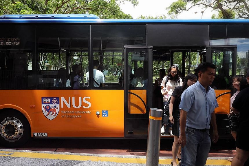 The National University of Singapore slid to third place in Asia, and from 23rd to 25th globally, in the Times Higher Education ranking, trailing Tsinghua University and Peking University (above, left). China's top two continue to make gains, fuelled