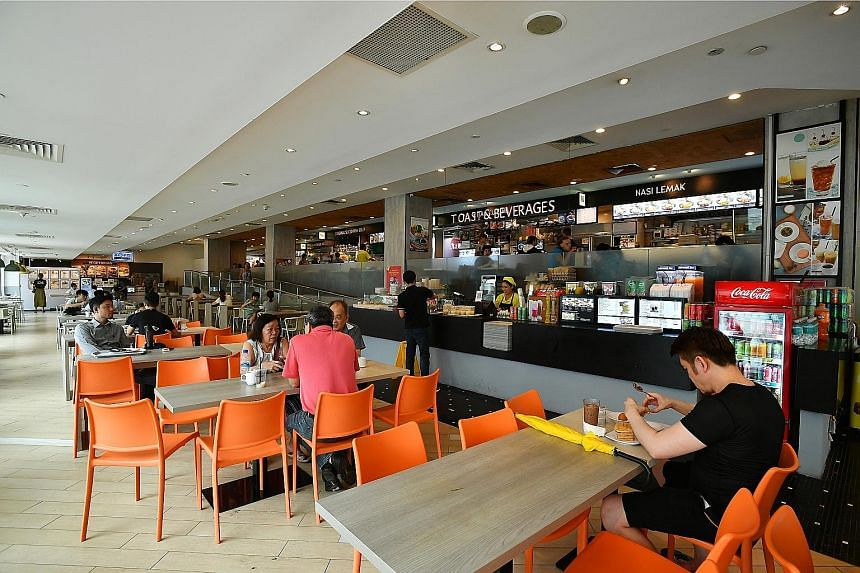 The Food Junction foodcourt at Bugis Junction. BreadTalk subsidiary Topwin Investment Holding submits that it primarily overlaps with foodcourt operator Food Junction in two markets, but says the proposed transaction will not result in a substantial